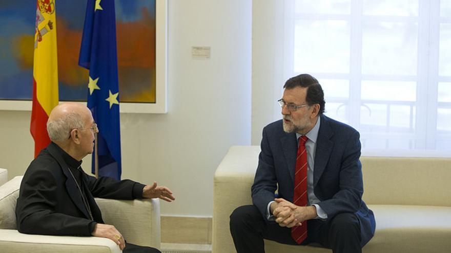 Ricardo Blázquez, junto a Mariano Rajoy en el Palacio de la Moncloa