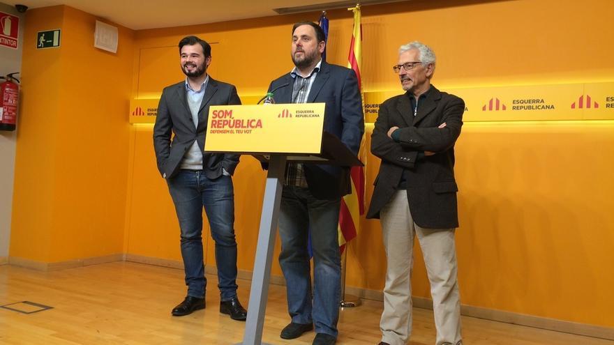 Junqueras (ERC) reafirma a Mas como candidato tras los resultados electorales