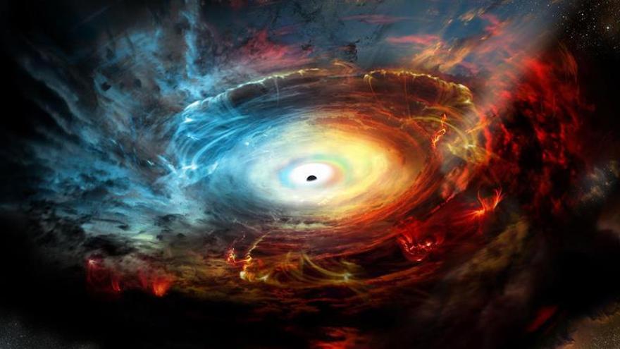 Astrónomos creen haber fotografiado un agujero negro por primera vez
