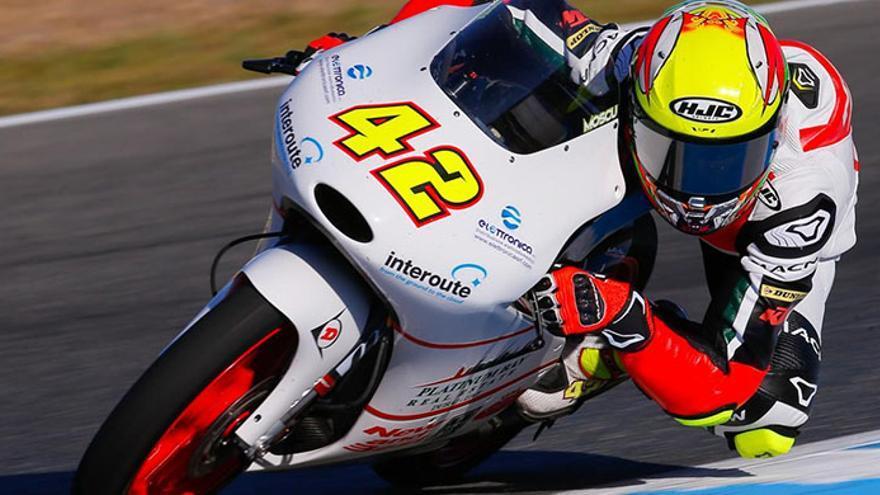 Marcos Ramírez, piloto gaditano del Mundial de Moto3