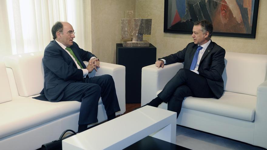 """Sánchez Galán reafirma ante Urkullu el """"compromiso"""" de Iberdrola con la recuperación de la economía vasca"""