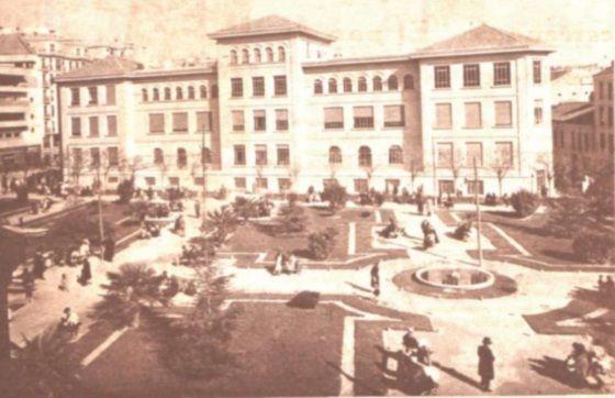 Grupo Escolar Pablo Iglesias y jardines (1934) | http://amigosdehesa.blogspot.com.es