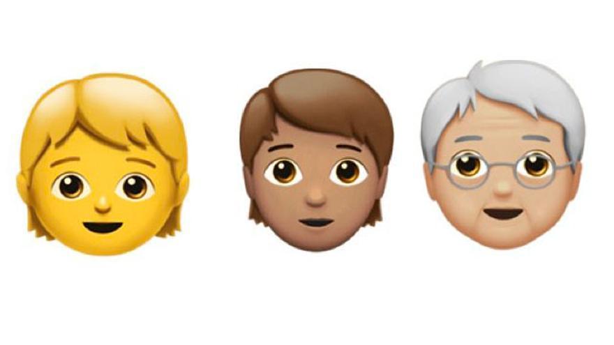 Los 'emojis' de género inclusivo y diferentes edades ya están disponibles en dispositivos Apple