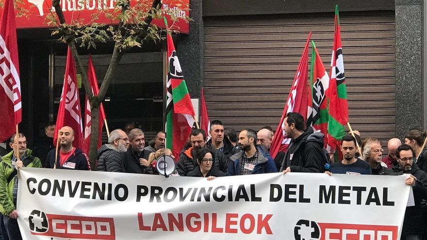 """CC.OO. advierte a la FVEM que estará en la negociación del Metal de Bizkaia pero """"también en la calle con movilización"""""""