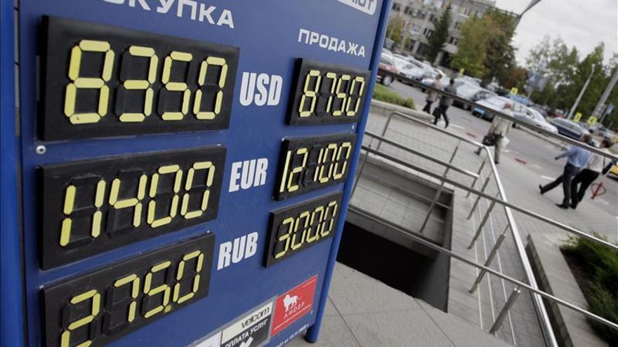 El rublo sube el 0,02 por ciento ante el dólar y el 0,23 por ciento frente al euro