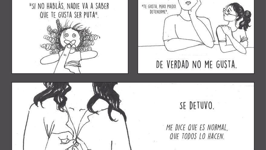 Página 15 del cómic 'Buscando Justicia', de Ana.   Imagen cedidas por la Asociación de Mujeres de Guatemala.