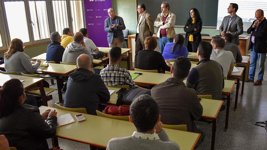Aula del primer Diploma Universitario en Gastronomía y Alimentación en la Universidad de La Laguna (ULL).