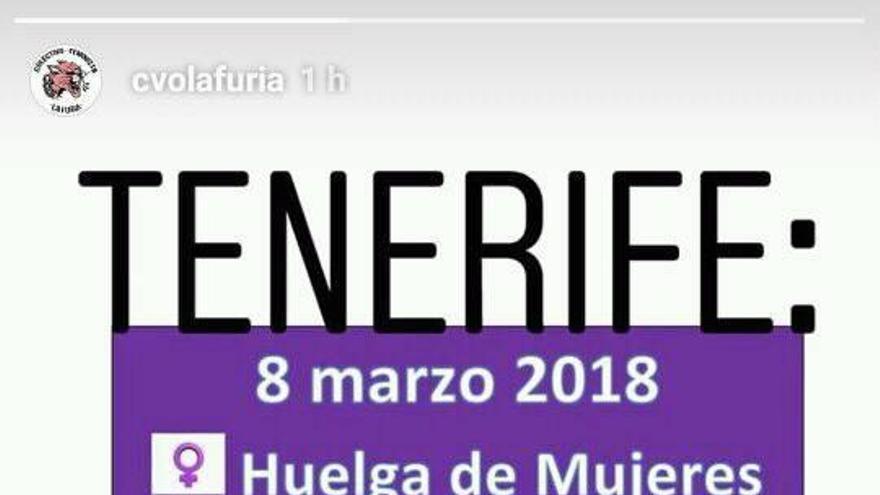 Cartel de la Plataforma Feminista 8M de Tenerife con actividades propias de la huelga
