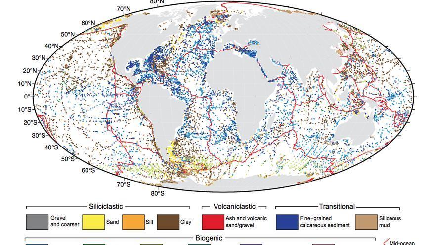 Mapa de los puntos en los que se recogieron las muestras utilizadas / Adriana Dutkiewicz