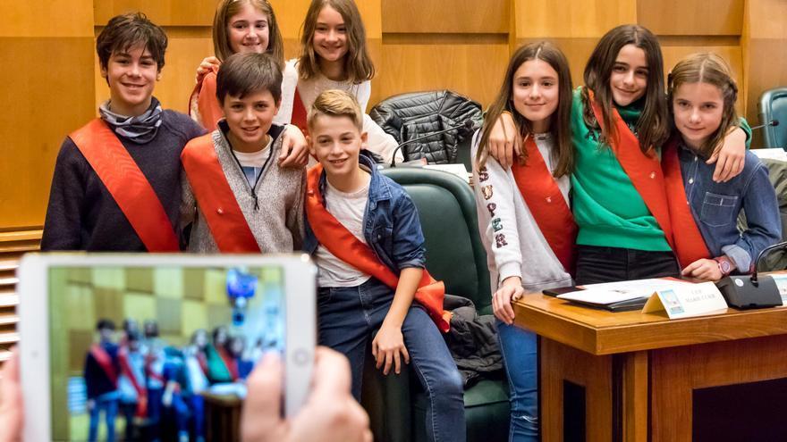 Pleno Infantil del Ayuntamiento de Zaragoza de 2017