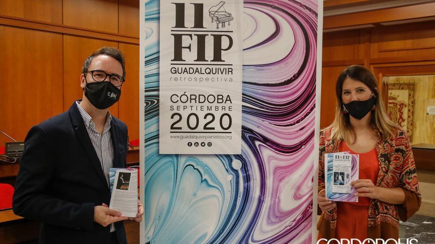 Paco Morales y María Dolores Gaitán en la presentación del Festival de Piano del Guadalquivir |ALEX GALLEGOS