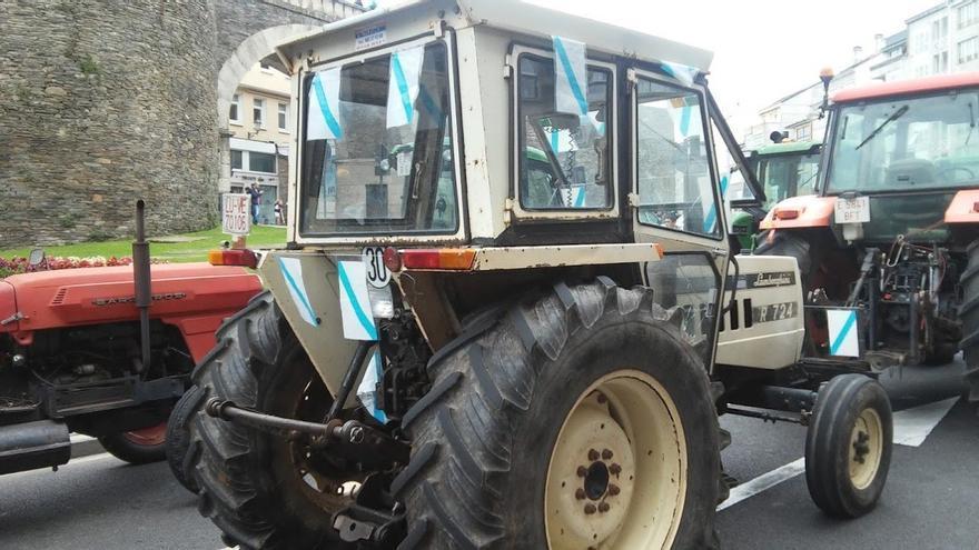 Tractor participante en la movilización de Lugo / Merixo