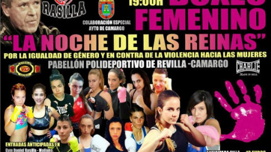 Imagen del cartel anunciado de la velada de boxeo sin los logotipos de los patrocinadores.