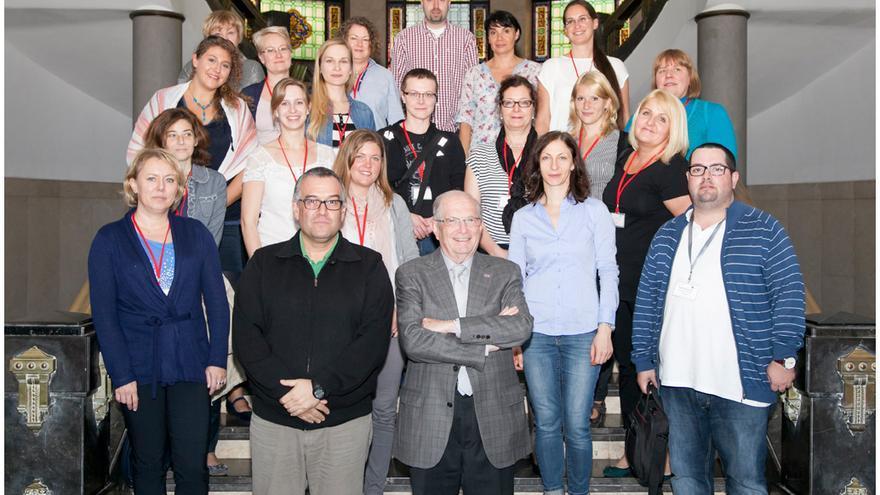Foto de familia con la veintena de técnicos europeos.