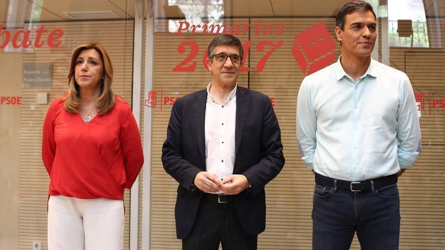 """Sánchez carga contra la Gestora por la """"involución en el discurso democrático"""" y Díaz recuerda a Tomás Gómez"""