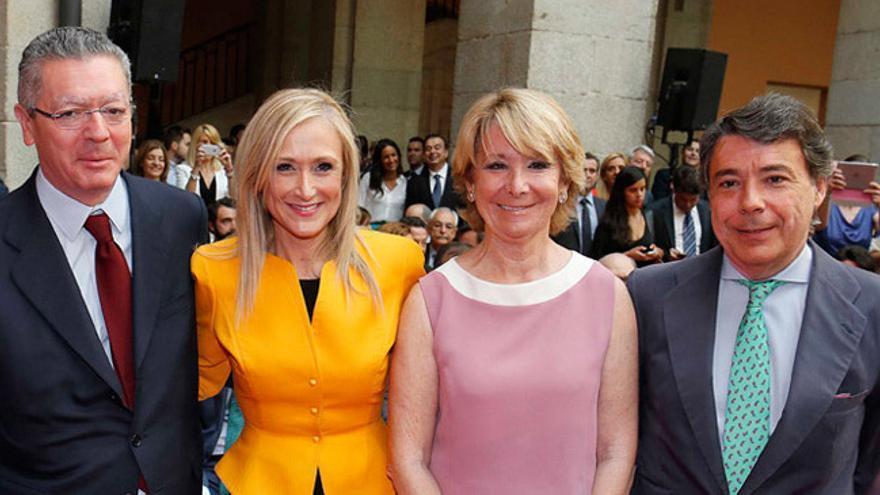 Alberto Ruiz Gallardón, Cristina Cifuentes, Esperanza Aguirre e Ignacio González.