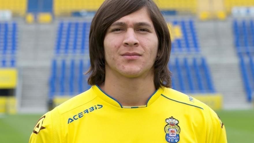 El delantero de Las Palmas Atlético Ronaldo Peña