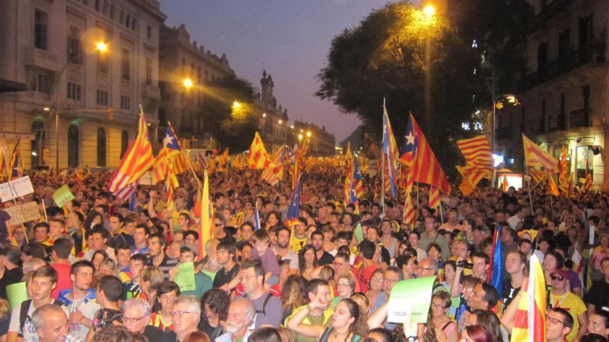 Los promotores de la marcha de la Diada ven legítima una independencia apoyada por el 50%