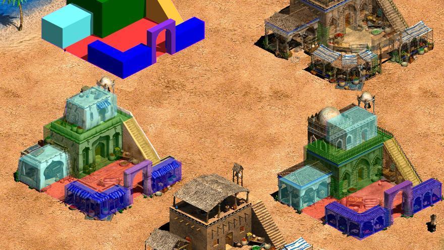 Diseño de los modelos de 'The African Kingdoms', un proceso que Beckman asemeja a jugar con Legos