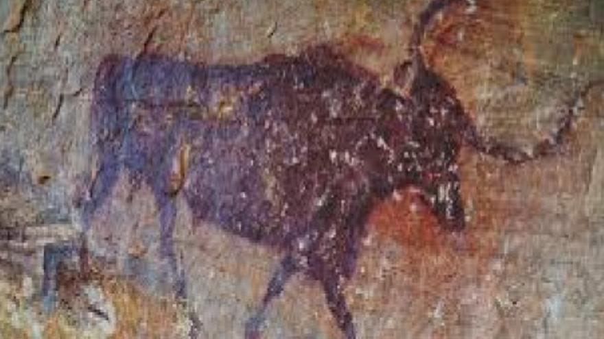 Pintura rupestre en Villar de Humo (Cuenca)