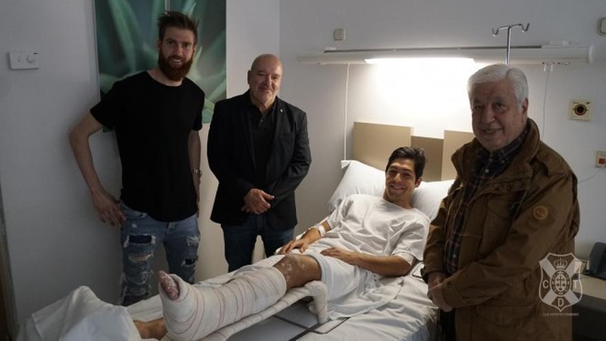 Lasso recibió el domingo la visita del presidente y sus compañeros de vestuario.