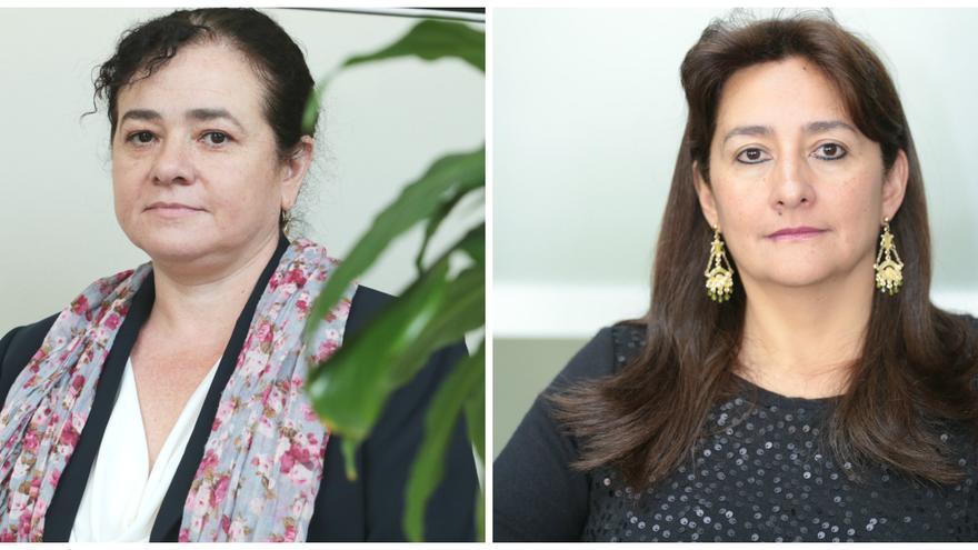 Las abogadas Claudia Paz, a la izquierda, y Ángela Buitrago, a la derecha. | GIEI.