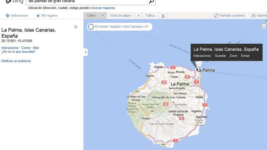 Búsqueda en Bing de Las Palmas de Gran Canaria