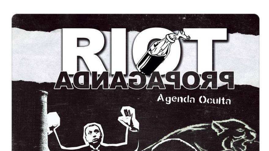 Portada de Agenda Oculta, disco de Riot Propaganda.