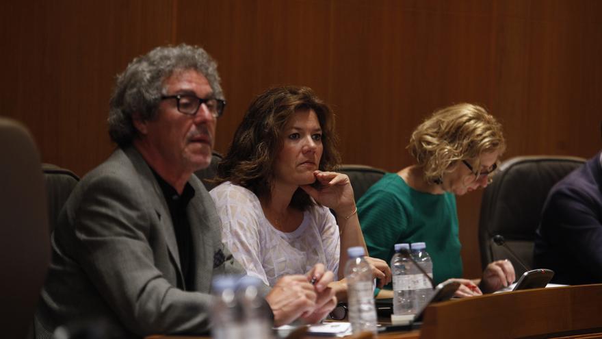 Los dos diputados de CHA en las Cortes de Aragón, Gregorio Briz y Carmen Martinez.