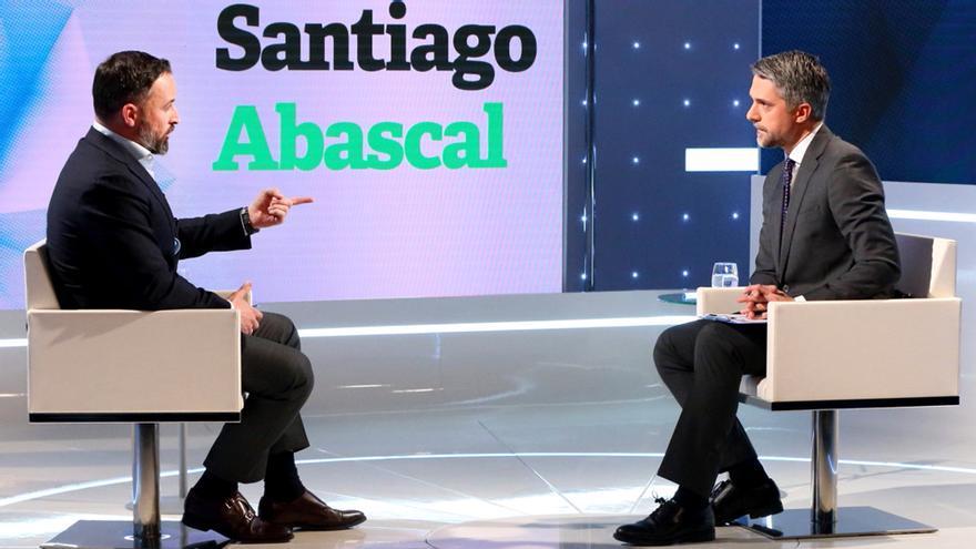Abascal y Franganillo en su entrevista en el Telediario 2 de TVE