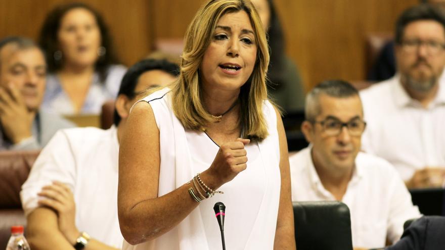 Susana Díaz en la sesión de control del 21 de julio de 2016.