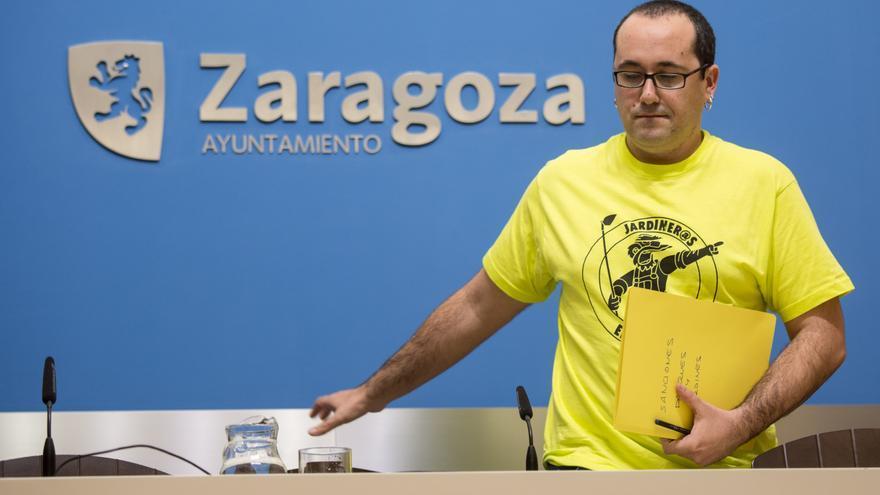 El consejero de Servicios Públicos del Ayuntamiento de Zaragoza, Alberto Cubero.