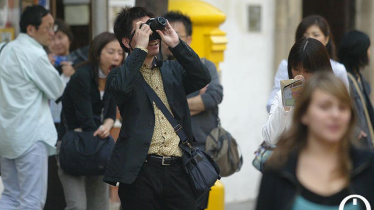 Un turista japonés en una imagen de archivo