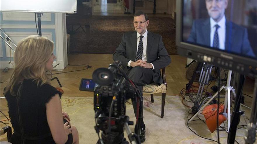 Rajoy, durante la entrevista con Bloomberg.