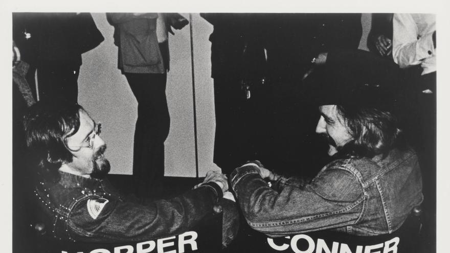 Bruce Conner con Dennis Hopper