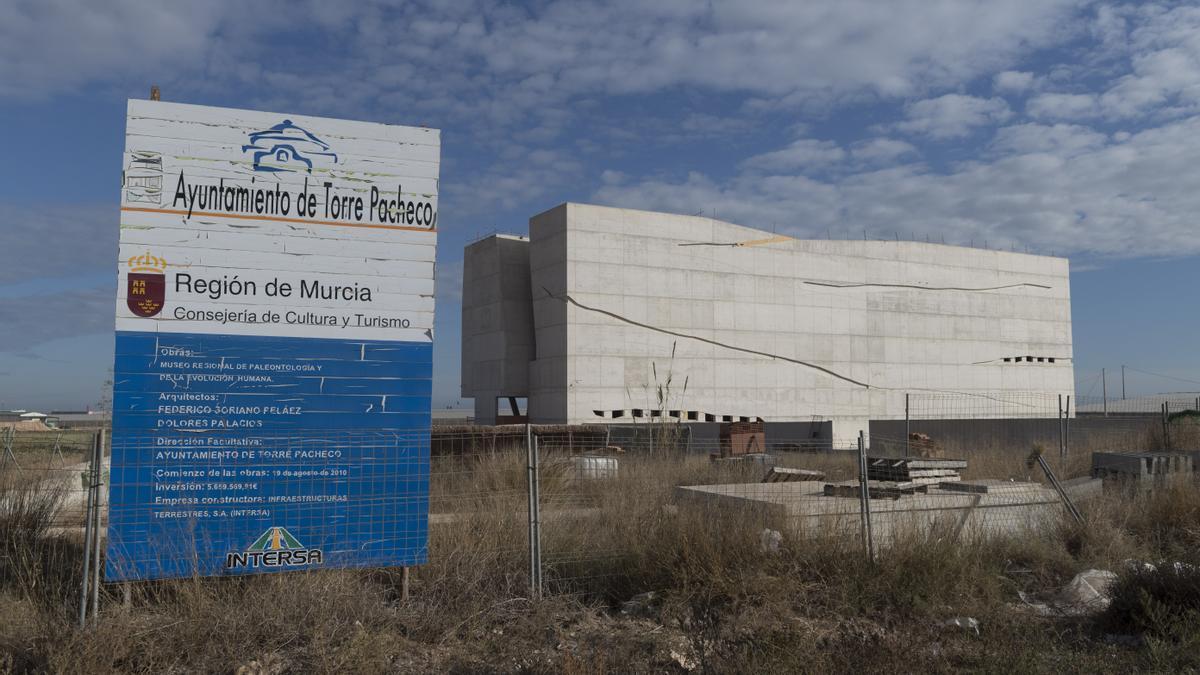 Museo de Paleontología del muncipio murciano de Torre Pacheco, sin acabar