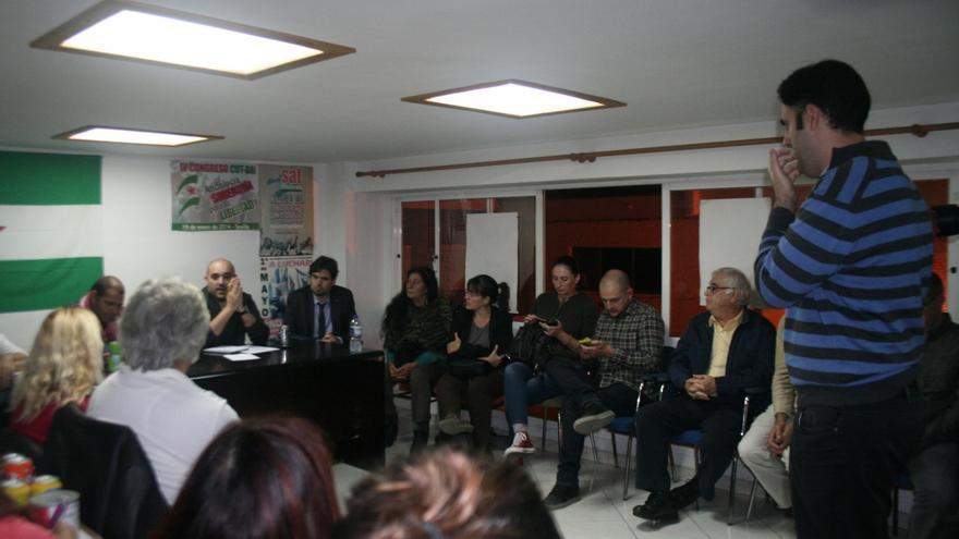Imagen de la reunión celebrada este miércoles para constituir Ganemos Marbella