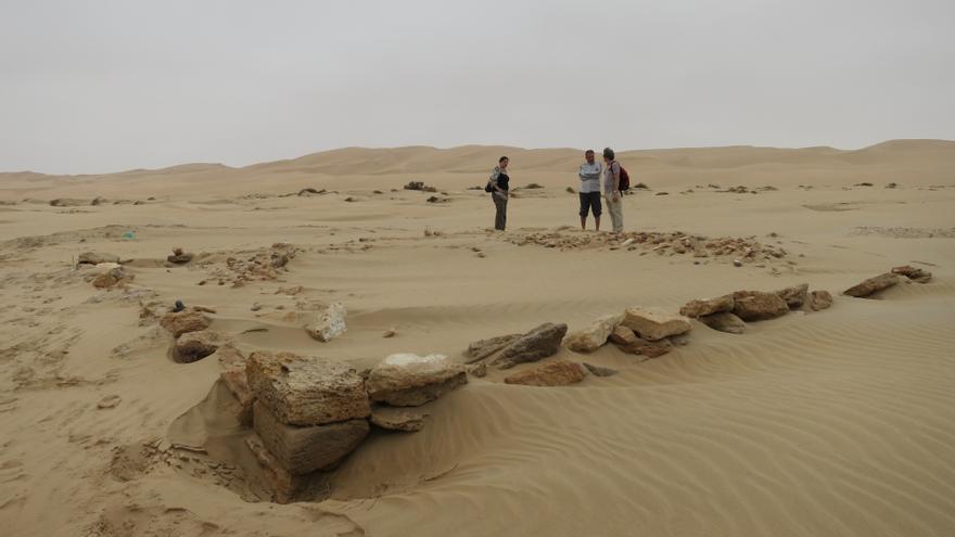Vestigios de una de las torres españolas en la costa de Marruecos