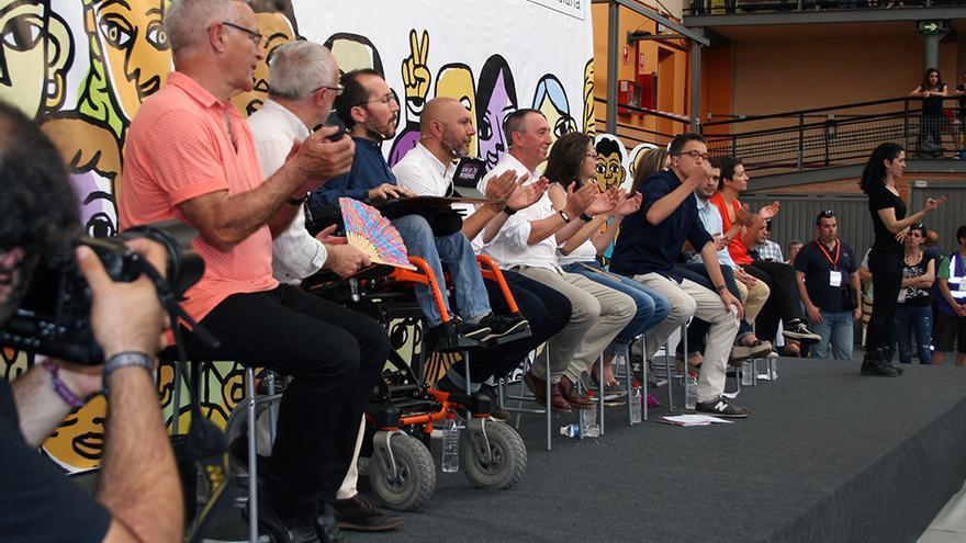 Íñigo Errejón interviene en el mitin de 'A la Valenciana' en el polideportivo de El Cabanyal, Valencia