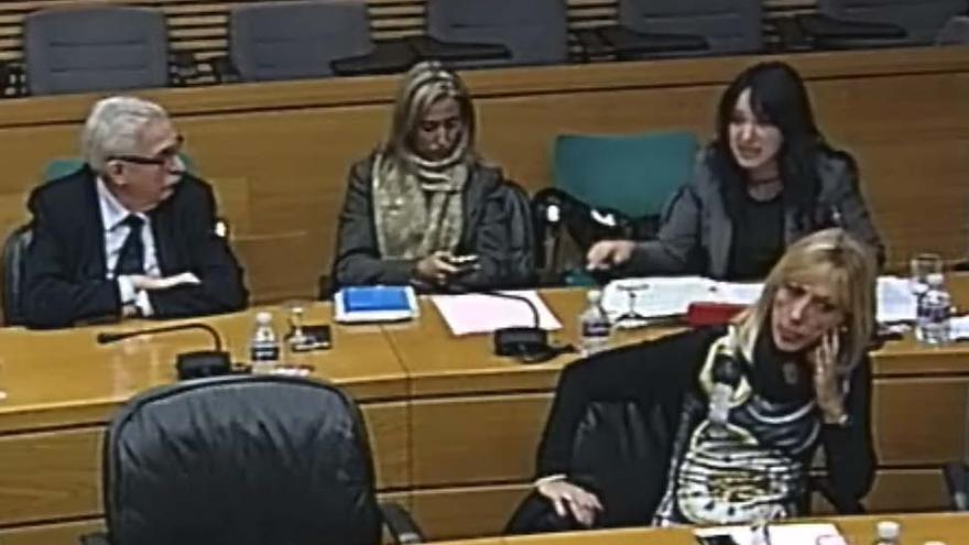 La diputada del PP María del Pilar Sol, en el momento de su intervención.