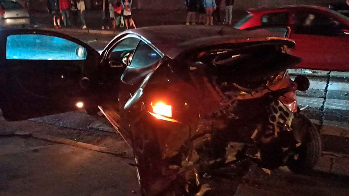 Accidente en Las Quemadas este sábado por la noche.