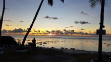 Atardecer en la isla de Nauru.