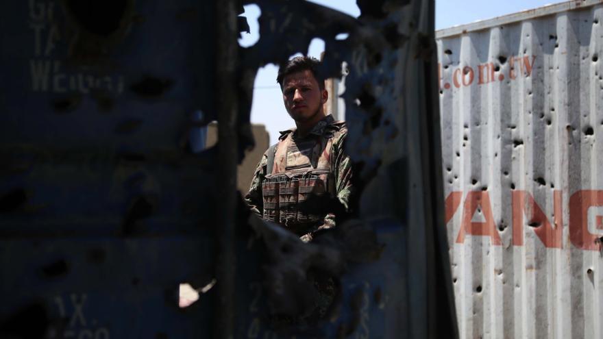 Las fuerzas afganas despejan el distrito de Alishang en Laghman
