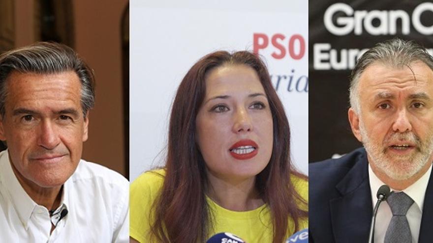 Juan Fernando López Aguilar, Patricia Hernández y Ángel Víctor Torres.