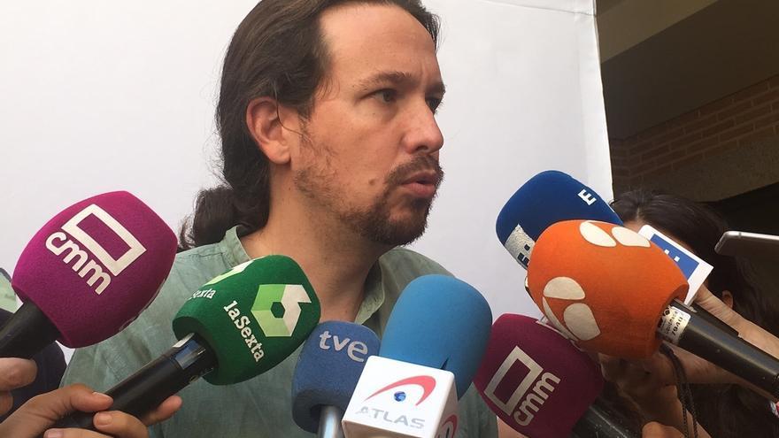 """Iglesias rechaza que C-LM sea un laboratorio: """"Con Podemos en la Junta, PSOE evita la tentación de gobernar con PP"""""""