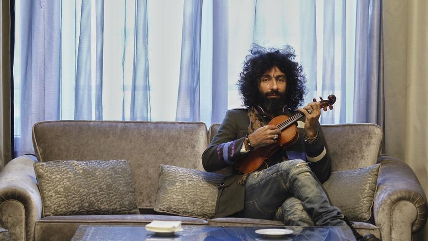 El violinista Ara Malikian, este viernes en Baluarte