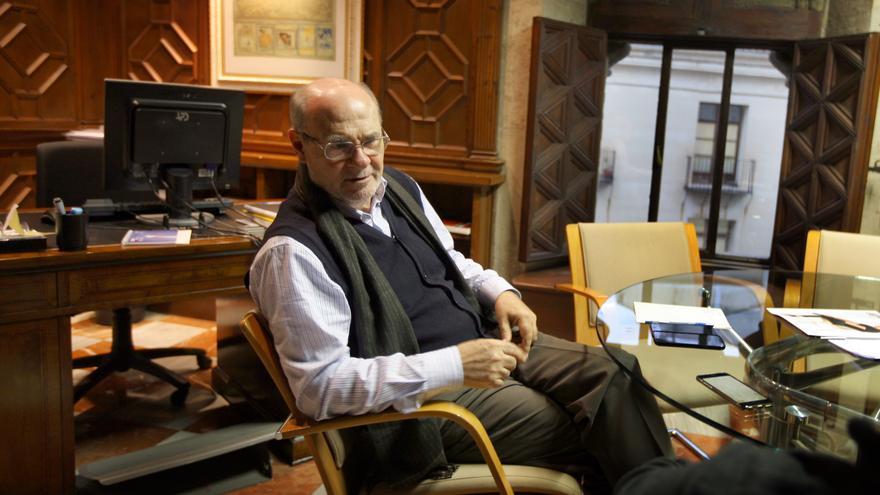 Andrés García Reche, en su despacho en el Palau de la Generalitat.
