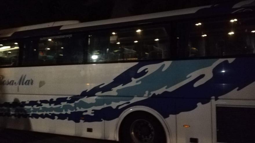 Así ha quedado el autobús de HazteOir