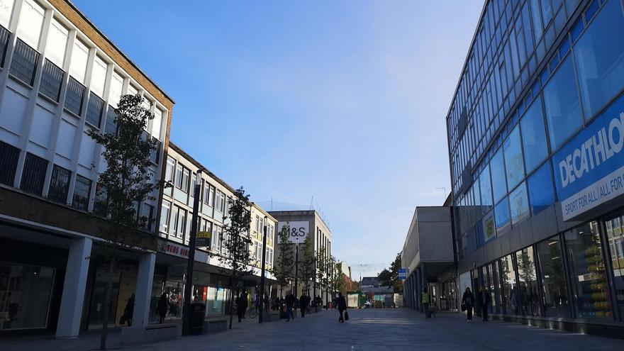 El centro de Crawley (Inglaterra) en una imagen de archivo.