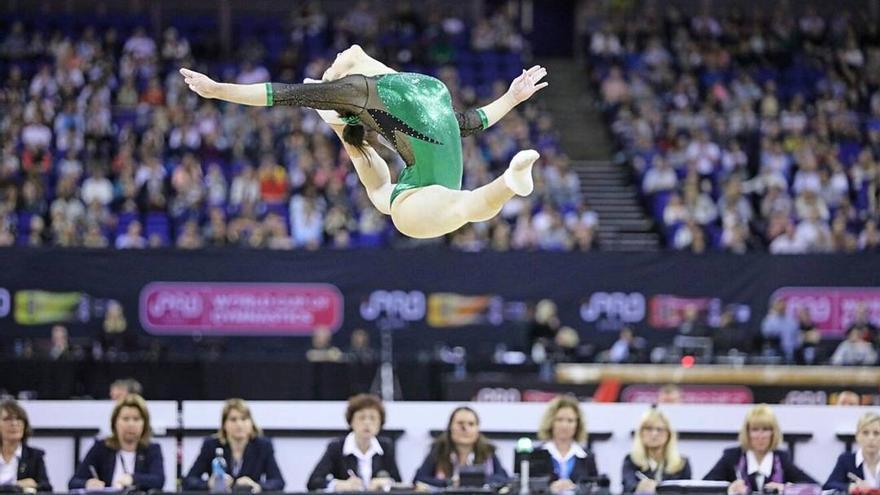 La gimnasta sevillana Ana Pérez, la mejor española del momento.